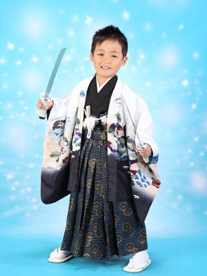秋田の七五三 スタジオ撮影 5歳 ヤマトくん