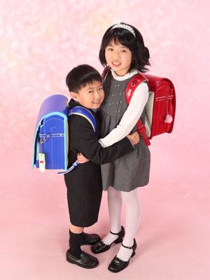 秋田の入学写真 スタジオ撮影 小学入学 イッセイくん