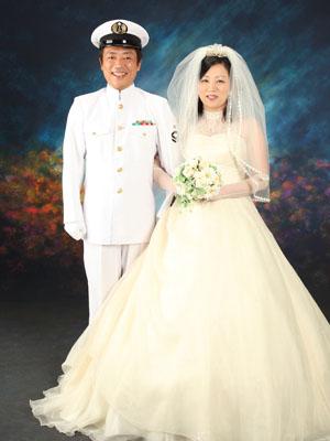 秋田のブライダルフォト スタジオ撮影 写真だけの結婚式 ヒデキ&ユカさん