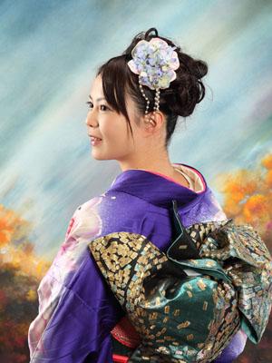 秋田の成人式 スタジオ撮影 振袖 式当日撮影 レミナさん