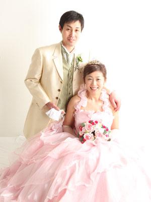 秋田のブライダルフォト スタジオ撮影 写真だけの結婚式 ケンイチ&ミキさん