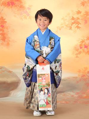 秋田の七五三 スタジオ撮影 5歳 ヒロキくん