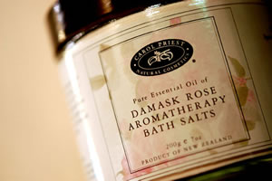 damask rose bath