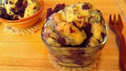 紫芋蒸しパン