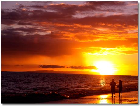 ワイメアの夕陽