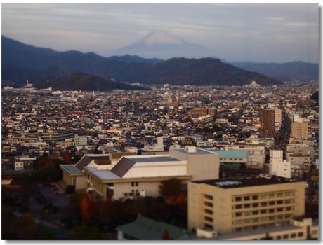 静岡市街ジオラマ