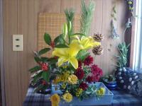 お正月の生け花1