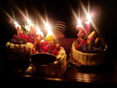 バースディケーキ×3