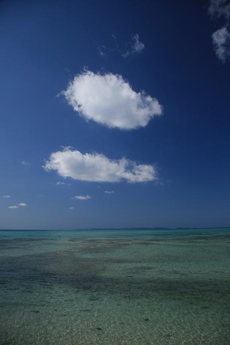 綿雲と慶良間列島