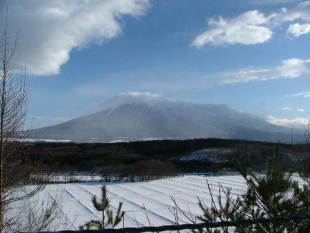 安比から見る岩手山