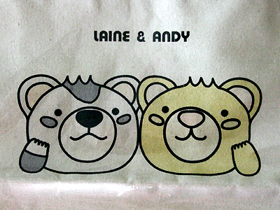 LAINE & ANDYのイラストのアップ!