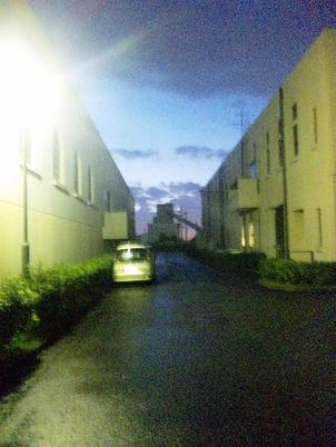夜の浄水場