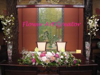 ウェディングフラワー装飾実習 無料 フラワーアートクリエイター協会