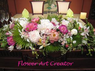 結婚式 フラワー 装花 アレンジ実習 フラワーアートクリエイター協会