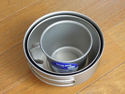 EPIチタン食器三点セットとユニフレーム チタンマグ