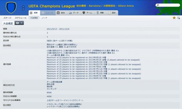 UEFA Champions League (概要_ 大会規定)