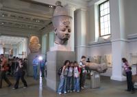 大英博物館の展示のようす。