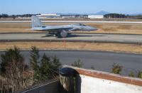 百里基地 平和公園の展望台からF-15見る。