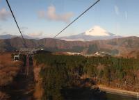 ロープウェイから見た~富士山