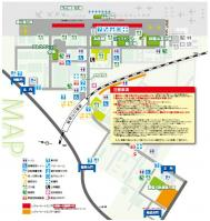 入間基地の地図(パンフから抜粋)