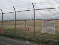 横田基地に設置されている放射線測定器