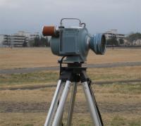 横田基地に設置された放射線測定器のアップ