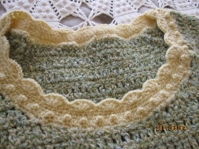 ルノアールの黄緑 半袖セーター