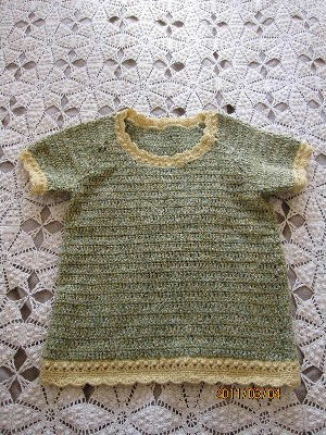 ルノアールの黄緑 半袖セーター 全体