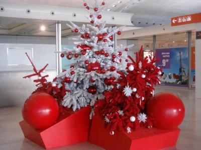 シャルルドゴール空港のツリー