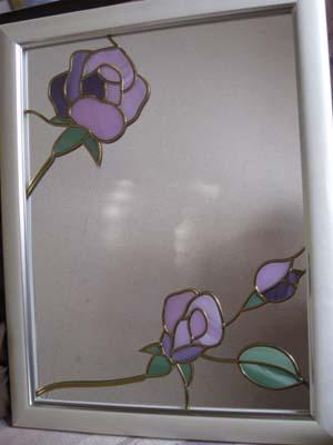 グラスアート鏡