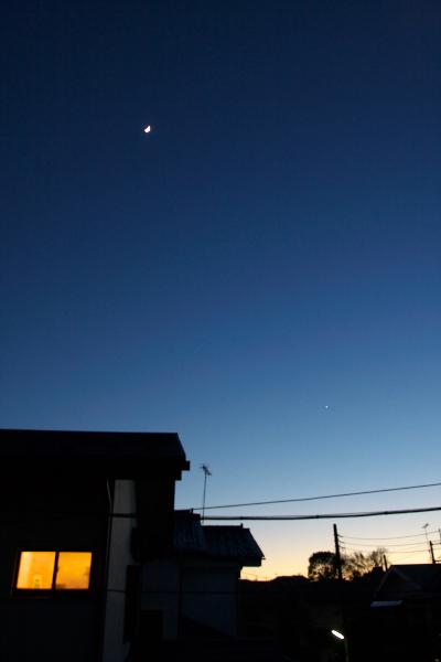 三日月と宵の明星111231