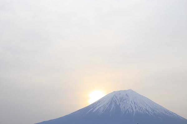 富士山の朝日101005