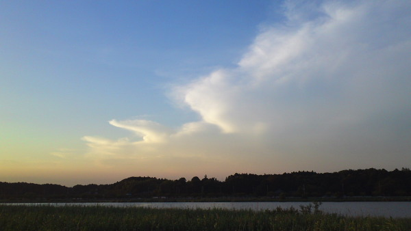 夏の夕空110715