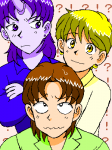 オリジナルの小説「天地の戦士」のメイン3人組