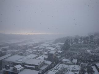 諫早の雪景色