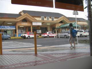 マックから見た諫早駅