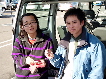 プレスト製作者の尾崎氏(右)&スキルフルの岡本氏(左)