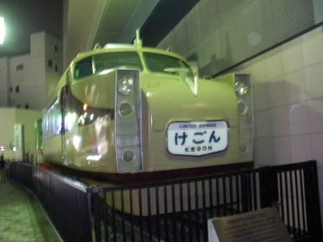 東向島の駅脇の博物館の電車