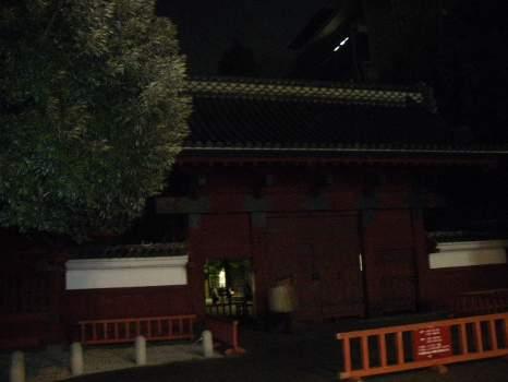 夜の東大赤門