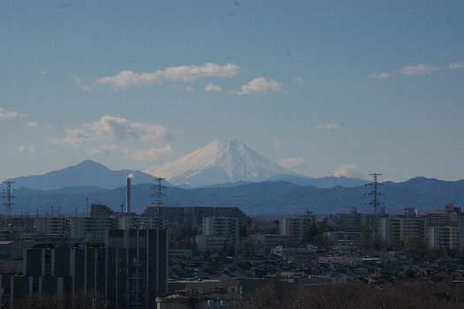 嵐の去った富士