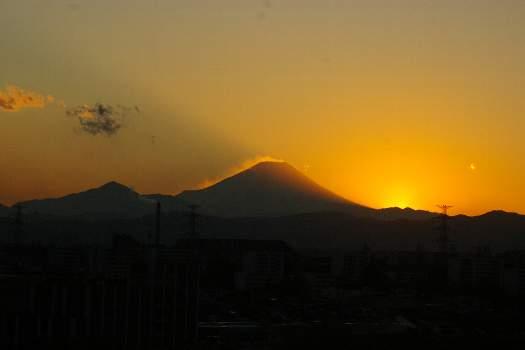 富士夕景12月28日09年