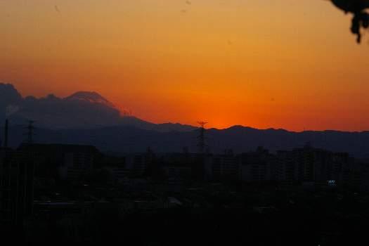 富士夕陽2010年1月09日