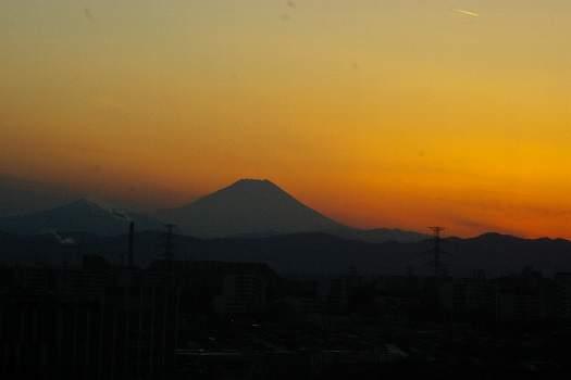富士の夕陽2010年1月10日