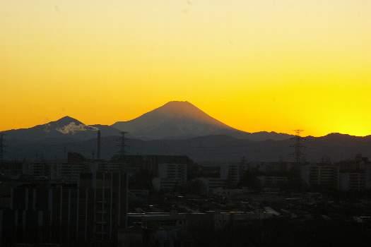 日没富士2010.1.14
