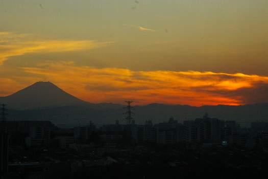 今日の夕富士