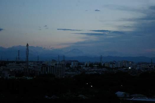 梅雨の晴れ間の富士