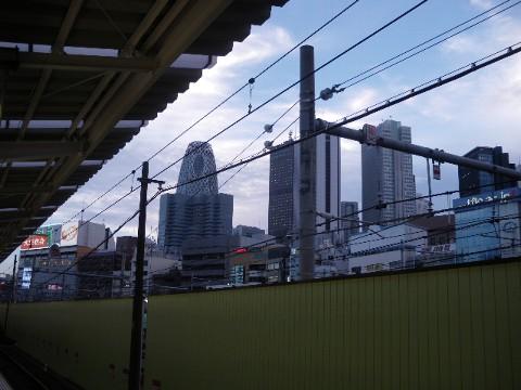 西武新宿のホームから