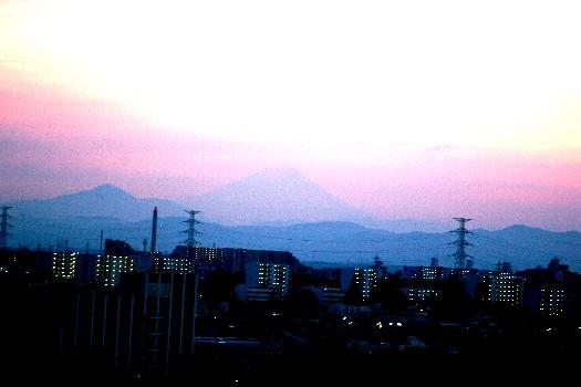 夕焼け夏富士2