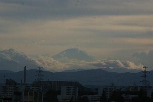 入道雲と富士