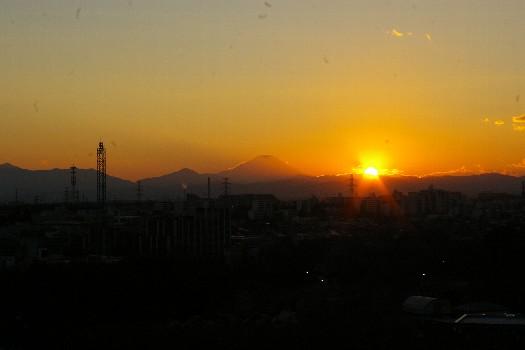 11月末の夕焼け富士